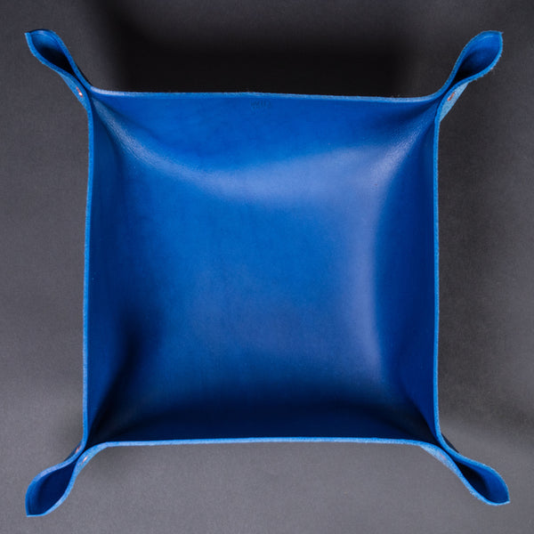 Wilt 1862 Cobalt Blue Leather Valet Trays Large at The Lodge