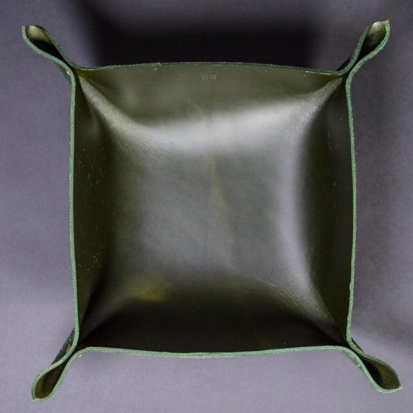 Wilt 1862 Hunter Green Leather Valet Tray Large at The Lodge