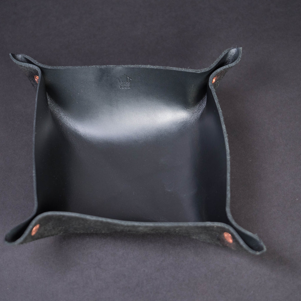 WILT SMALL BLACK MANTRAY™ VALET TRAY HORWEEN LEATHER