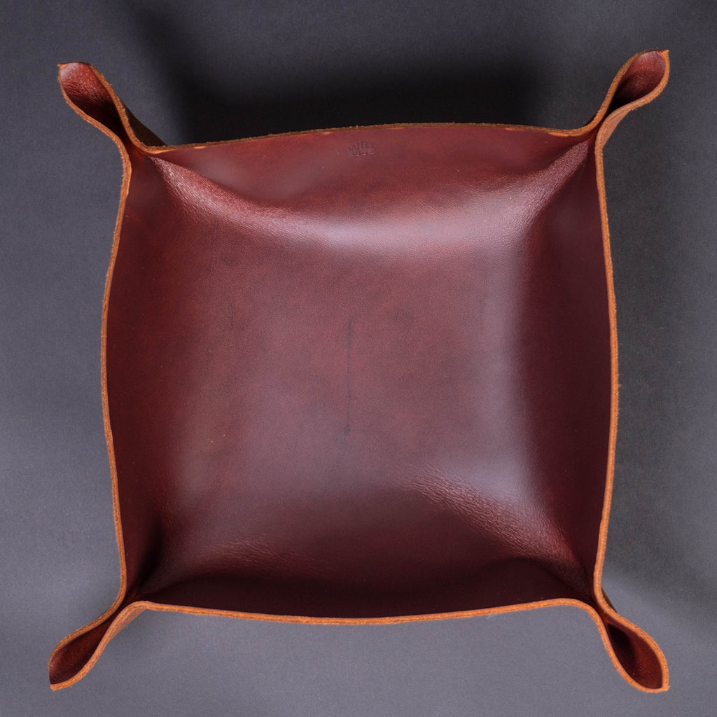 Wilt 1862 Burgandy Leather Valet Tray Large at The Lodge