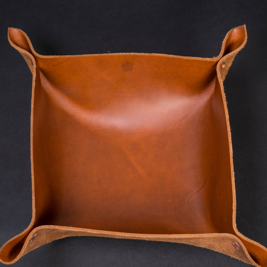 WILT LARGE WHISKEY MANTRAY™ VALET TRAY HORWEEN LEATHER