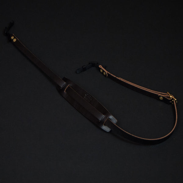 Wood & Faulk Black Leather Camera Strap at The Lodge