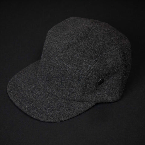 5-PANEL CHARCOAL WOOL CAMP HAT