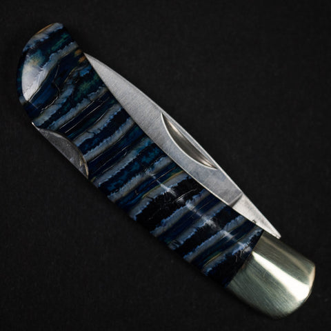 "NAVY WOOLLY MAMMOTH TOOTH KNIFE W/3"" BLADE - THE LODGE  - 1"