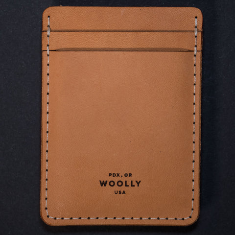 Woolly Leather Tan Money Clip Card Wallet at The Lodge