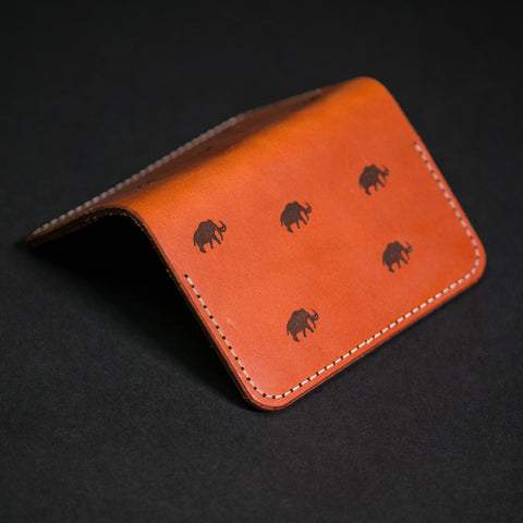 Woolly Leather Flip Card Wallet Brown Mammoth at The Lodge