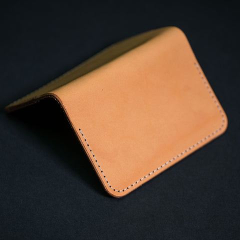 Woolly Leather Flip Card Wallet Natural at The Lodge