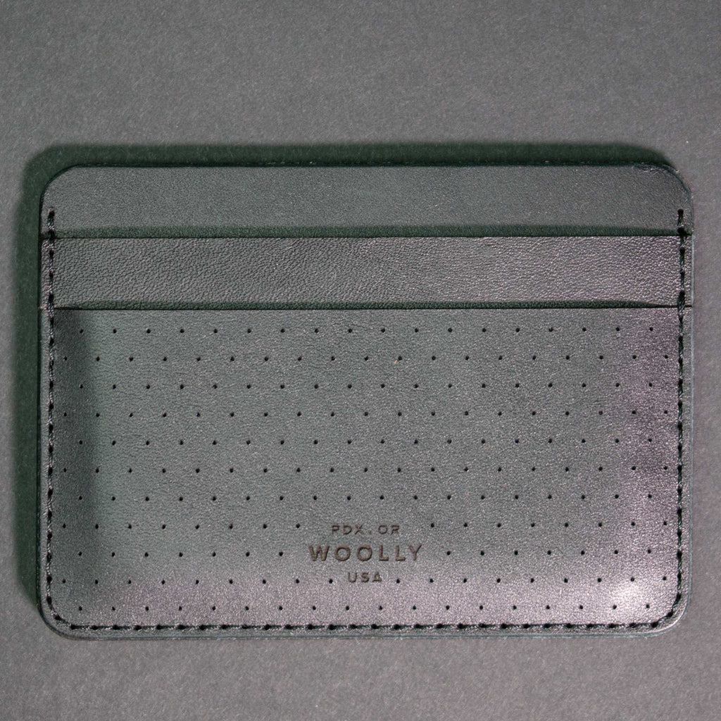 Woolly Leather Half Wallet Card Wallet Black at The Lodge