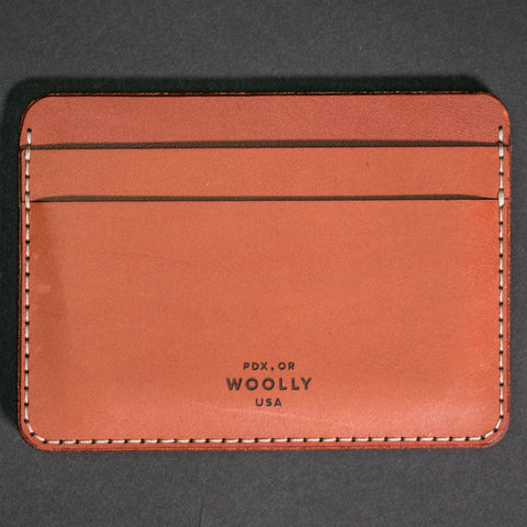 Woolly Leather Half Wallet Brown at The Lodge