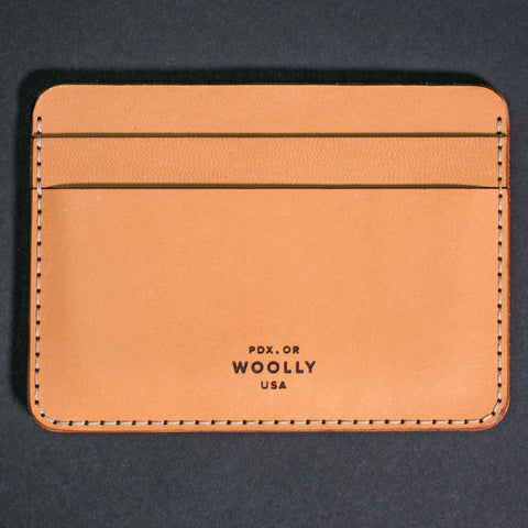 Woolly Leather Half Wallet Natural at The Lodge