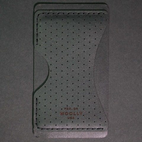 Woolly Phone Wallet Black Dots Leather at The Lodge