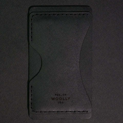 BLACK PHONE STICK-ON WALLET WOOLLY