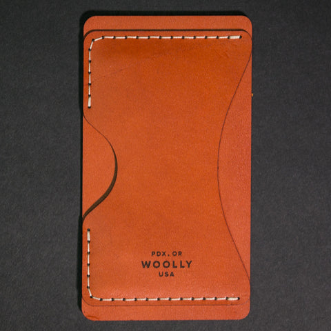 Woolly Leather Phone Wallet Brown at The Lodge