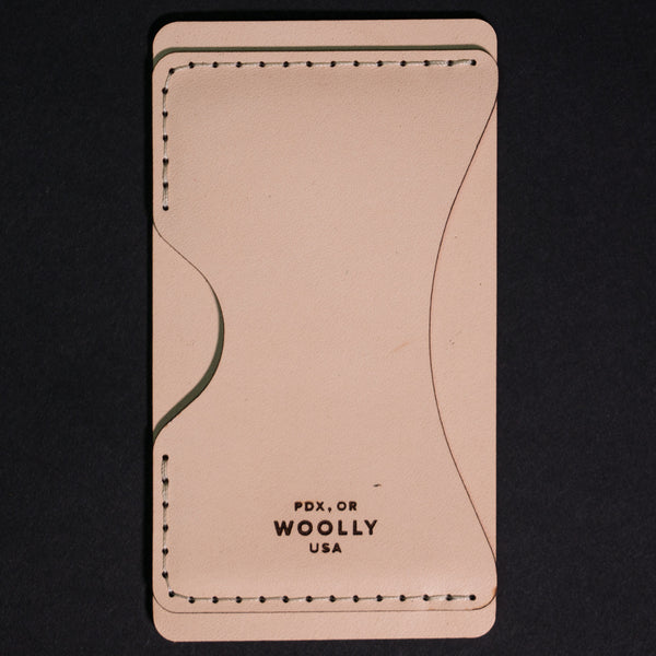 Woolly Leather Phone Wallet Natural at The Lodge