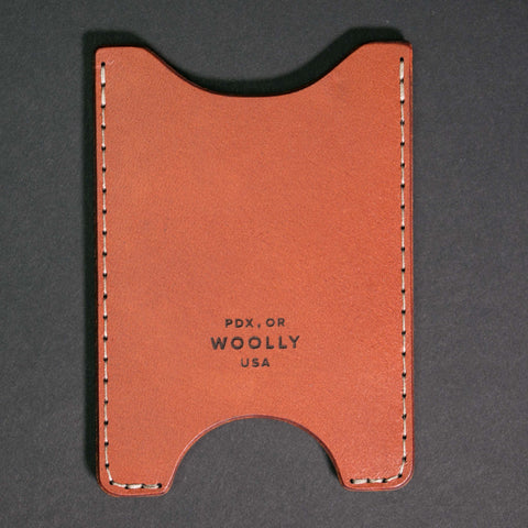 Woolly Leather Sleeve Card Wallet at The Lodge