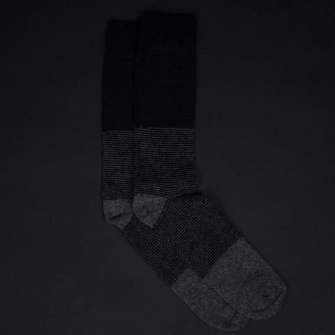 BARCLAY BLACK STRIPE CASHMERE SOCKS