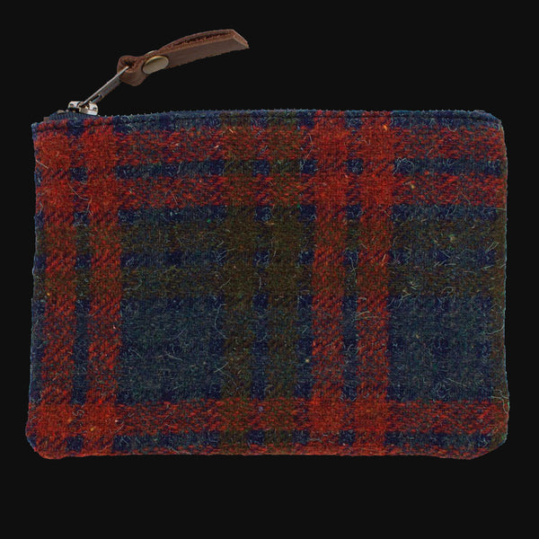 1960's DOVER PLAID WOOL & WAXED CANVAS ZIP ORGANIZER SMALL