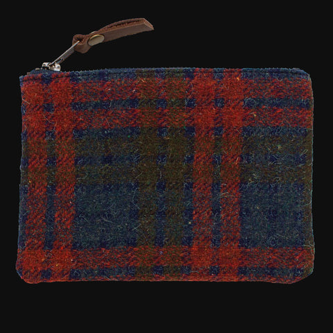 1960's DOVER PLAID & WAXED CANVAS ZIP ORGANIZER SMALL