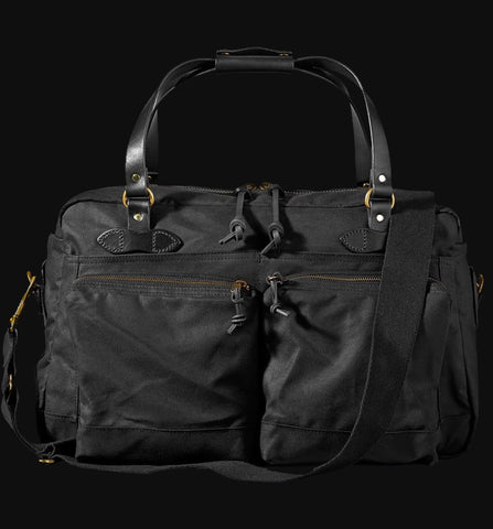 FILSON BLACK 48-HOUR DUFFLE BAG