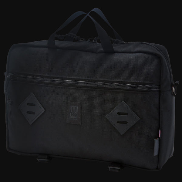 Topo Designs Ballistic Black Mountain Briefcase Backpack Messenger Bag The Lodge