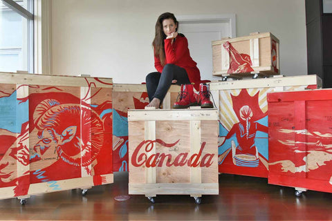Canadian artist Brandy Saturley on her BOX SETS