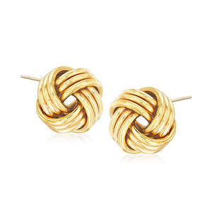 """I Love You Knot"" Gold Studs"