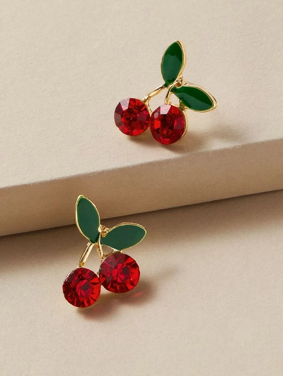 """You're Cherry Sweet"" Stud Earrings"