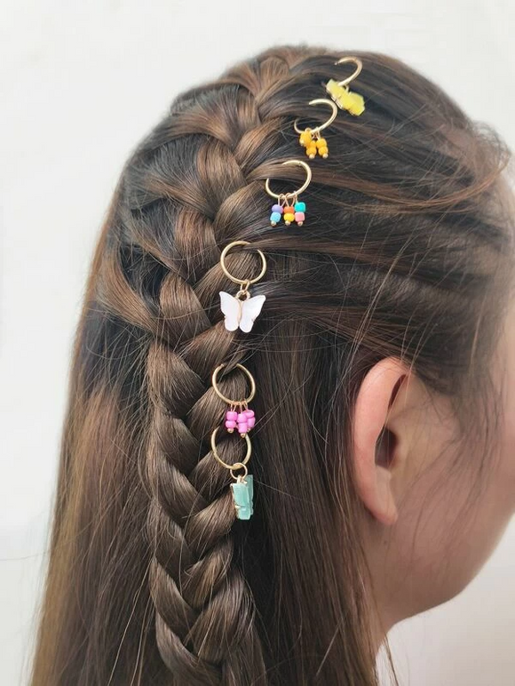 """Social Butterfly"" Hair Charms"