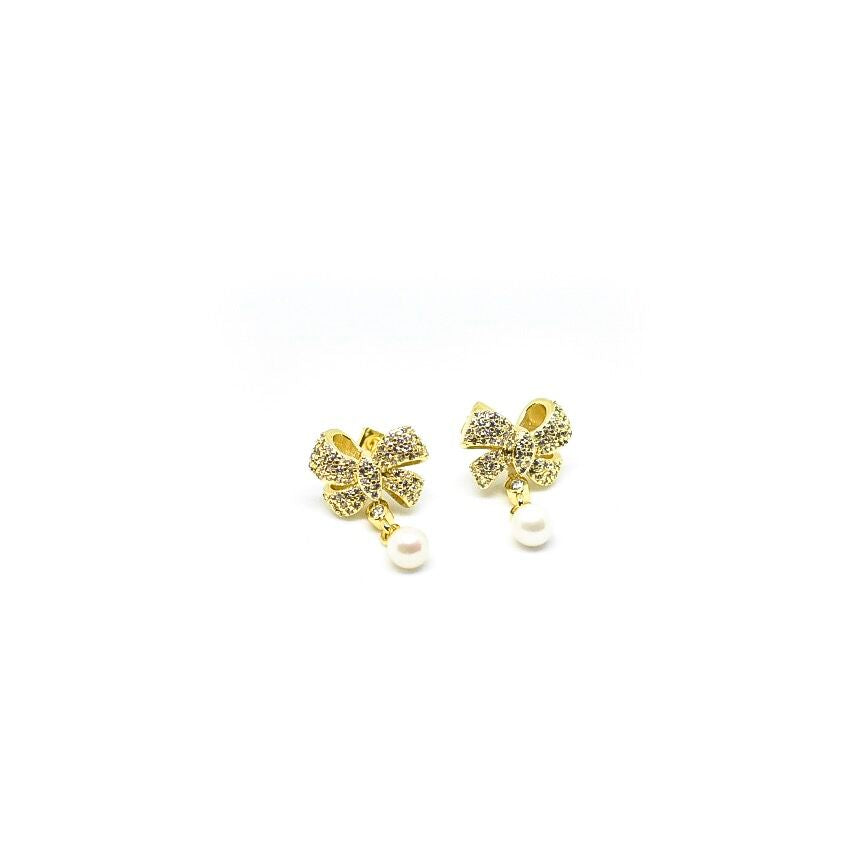 """Bows & Bling"" Earrings"