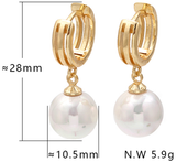 """Sunday Brunch"" Pearl Hoops"