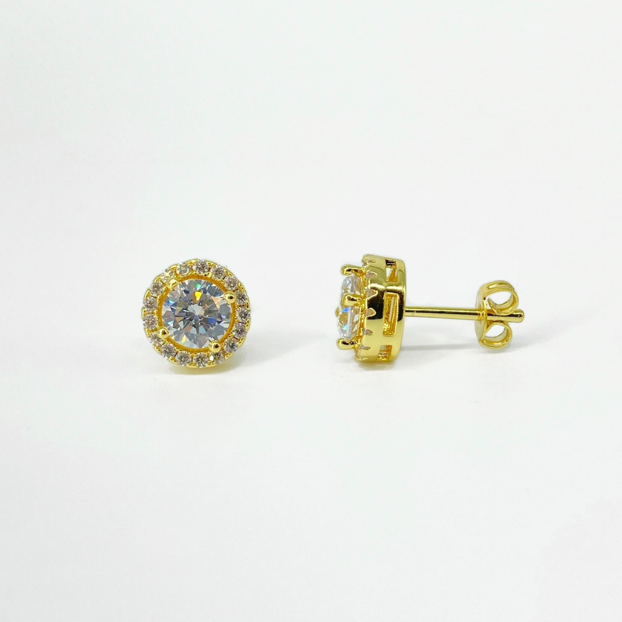 Gold Victoria Diamond Simulant Earrings