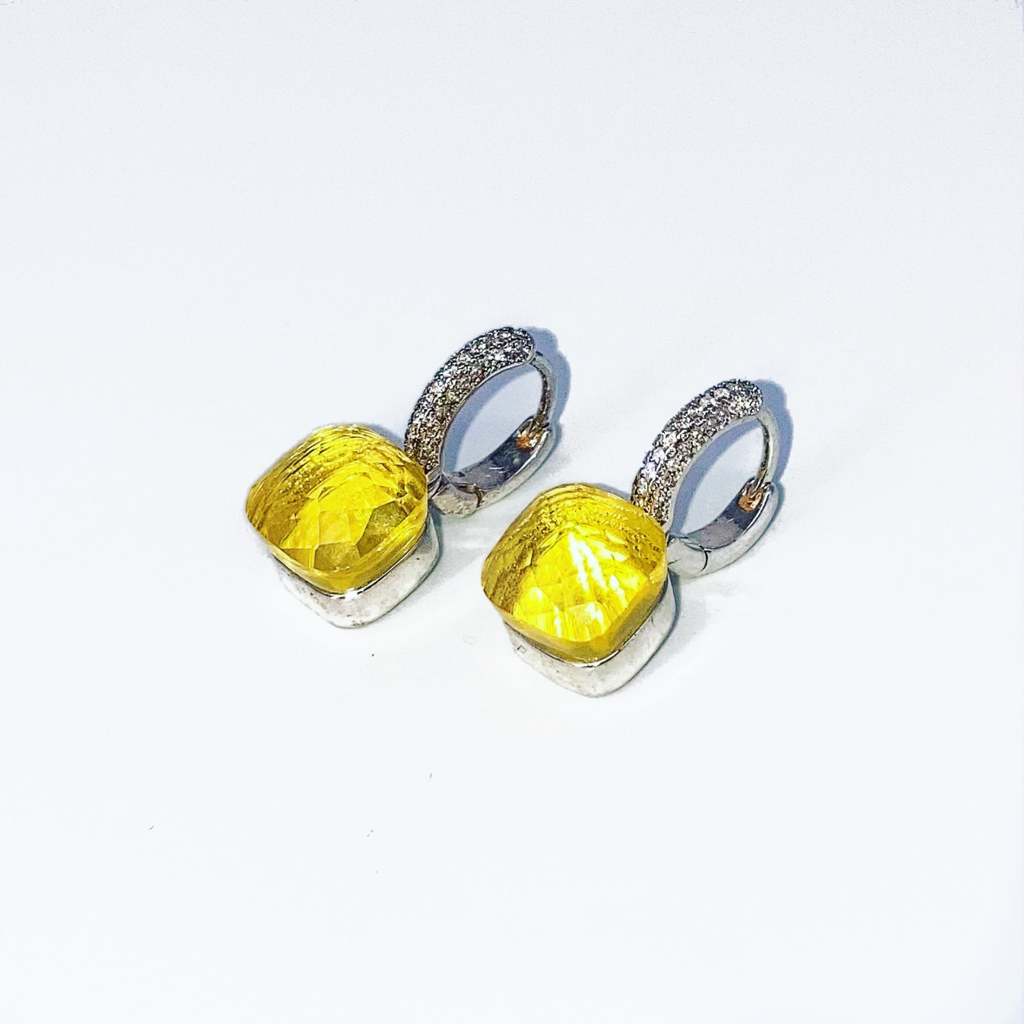 Canary Islands Drop Earrings with Micro Pave