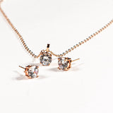 """Upper East Side"" Rose Gold Earrings & Pendant Set"