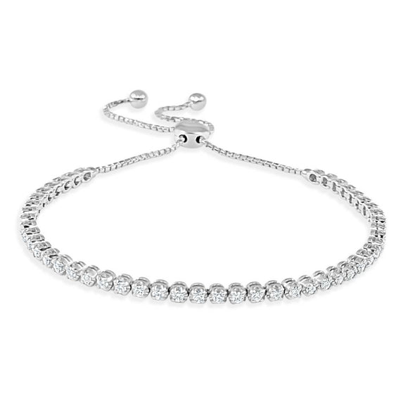 Diamond Simulant Tennis Bracelet