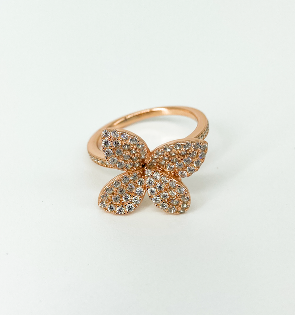 """Floral Chic"" Gold Ring"
