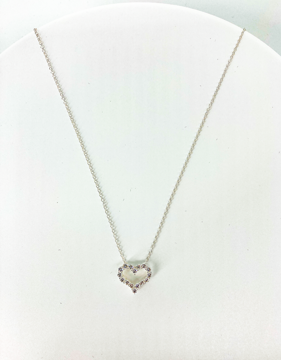 """Heart-Breaker"" Sterling Silver Necklace"