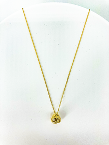 """Knot Your Babe"" Gold Necklace"