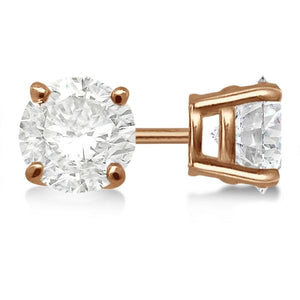 Lulu Rose Signature Diamond Simulant Earrings In Rose Gold