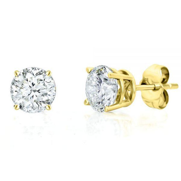 Signature Lulu Rose Diamond Simulant Earrings In Gold