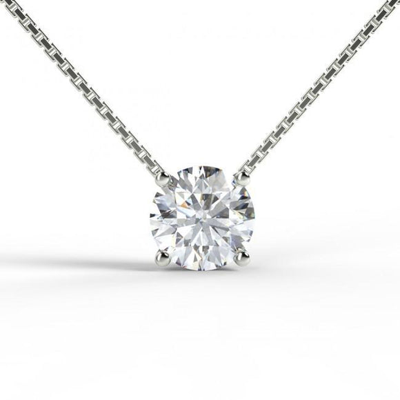 Type - Diamond Simulant Pendant Necklace