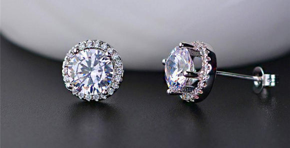 Victoria Diamond Simulant Earrings
