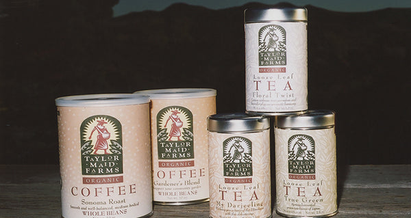 1995 – 2001: Taylor Maid moves to Sebastopol and begins packaging their coffee in 10oz steel cans<br /> wrapped in brown labels, later launching the can refill program at grocery stores.
