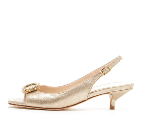 Fresca (Platinum Gold / Metallic Kid Suede) 60% Off
