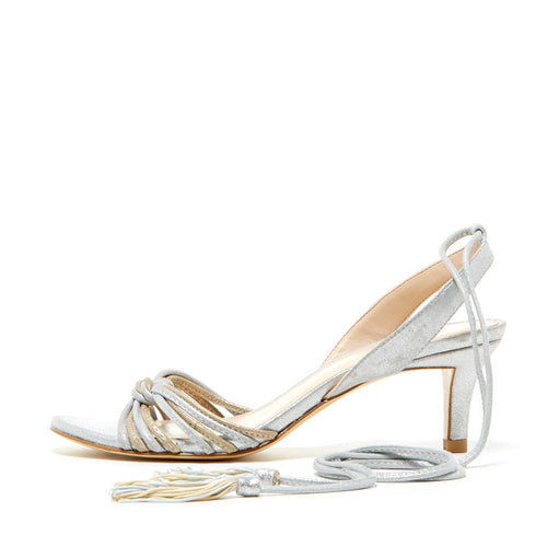 Benni (Silver / Platinum Gold Metallic Suede Combo) 60% Off