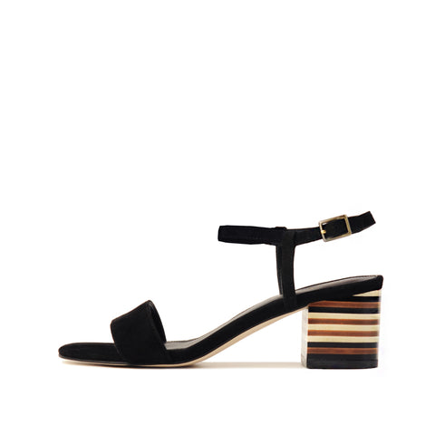 Roslyn 2 (Black / Satin & Kid Suede) 25% Off
