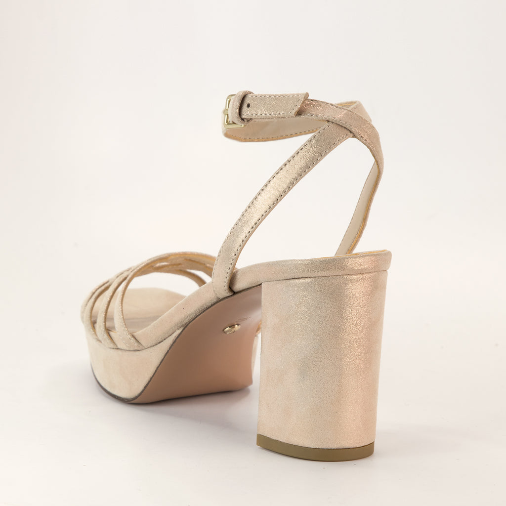 Amy (Rose Gold/ Shimmer  Suede) 40% Off