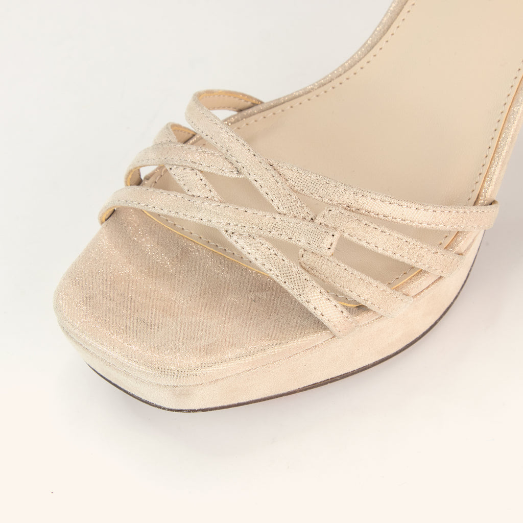 Amy (Rose Gold/ Shimmer  Suede) 50% Off