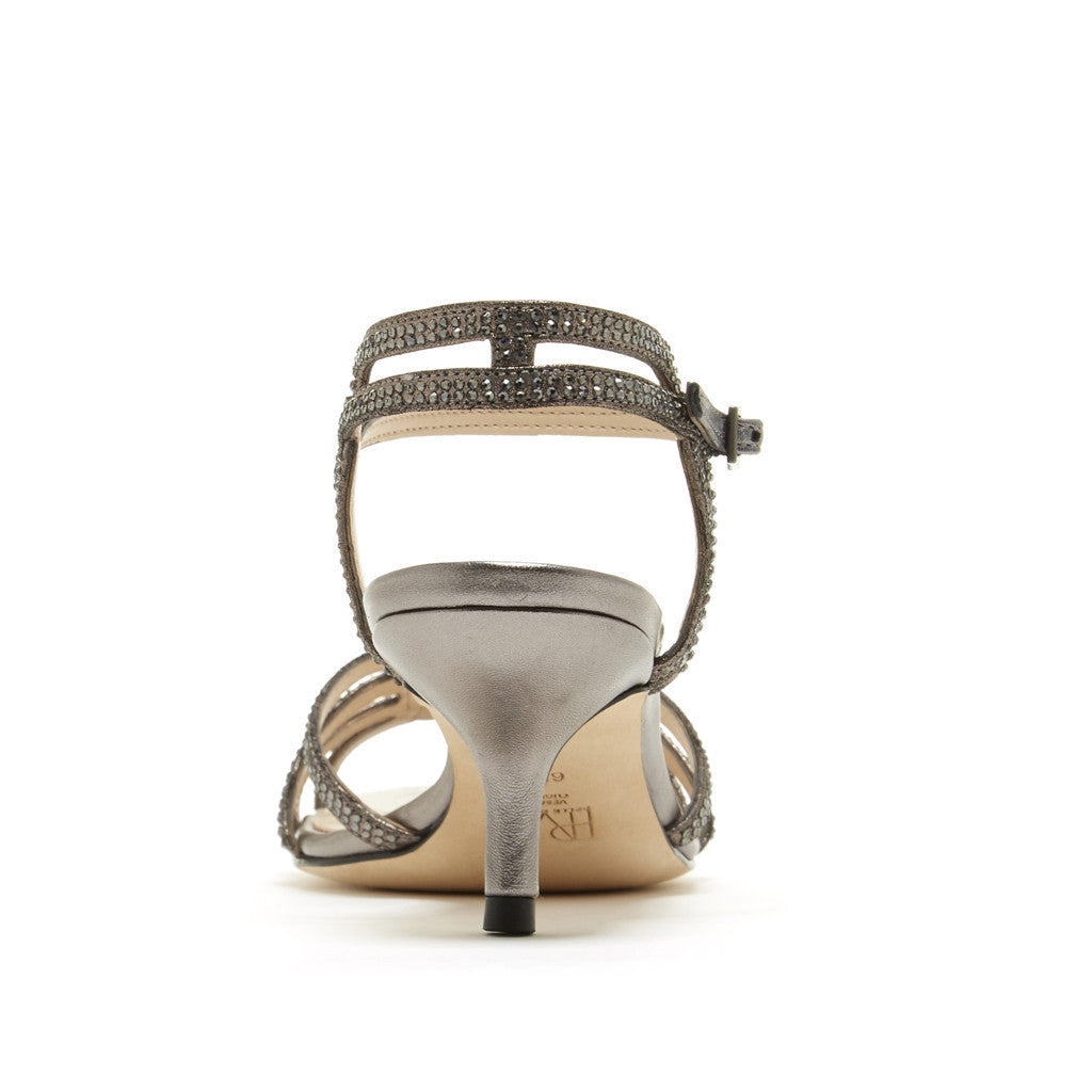 Alia (Pewter / Kid Suede / Metallic Kid Nappa Leather) - Pellemoda.us  - 2
