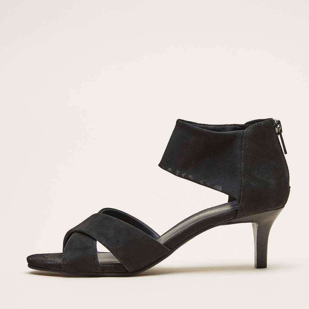 Bello (Black / Nubuck Leather / Stretch Mesh) 30% Off