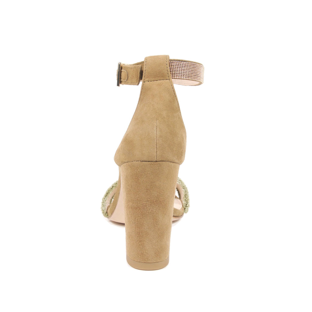 Bonnie 6 (Khaki / Kid Suede & Linen) 40% Off